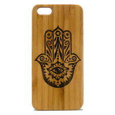 Hamsa Case for iPhone 6 Plus or iPhone 6S Plus Bamboo Wood Cover Hand of Fatima