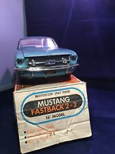 RARE 1967 Wen-Mar Mustang Fastback Model - light blue 1/12th Scale Original Box