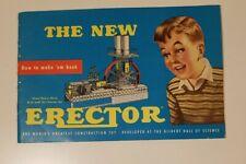 Vintage 1954 Gilbert Erector Set Instruction Book Complete How To Make 'Em Book.
