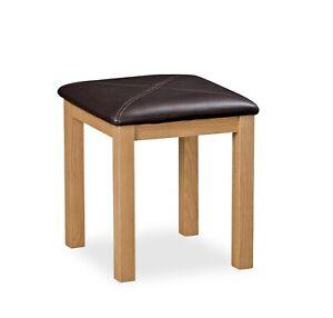 Oak Bedroom Stool - Wooden Bedroom Seat - Oakvale Dressing Table Stool