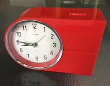 Vintage Electric CITIZEN Transistor Retro Alarm Clock with Bell Very Good Order