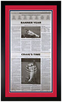 "2011 St Louis Cardinals Dispatch Newspaper Page ""Banner Year"" Matted & Framed!"