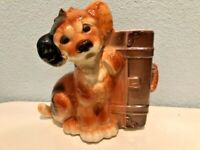 Royal Copley Vintage Skip the Dog with Suitcase Planter