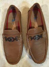 NEW Steve Harvey Celebrity Edition Boys Brown Designer Dress Shoes Loafers Sz 3