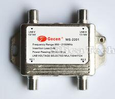 Gecen 2x2  13V/18V in, 2 out Satellite LNB V/H multi-switch MS-2201