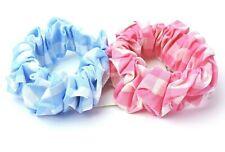 Haargummi Scrunchie Haarbinder Zopfgummi Haarband aus Spitze rosa weiß SOLIDA