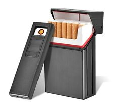 FOCUS Cigarette Case With Detachable USB Electronic Lighter Windproof Lighter