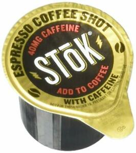 SToK Caffeinated Espresso Coffee Shots Single-Serve Packages, 264-Count