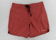 Patagonia Cotton/Nylon Surf Swim SUP Beach Shorts (Mens 35) Red