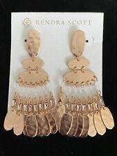 New Kendra Scott Oster Drop Statement Earrings in Rose Gold $130.00