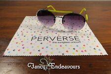 Nuevo con Etiquetas Perverse Gafas de Sol Loma 02 Salud 0462 Unicornio W/Plumero