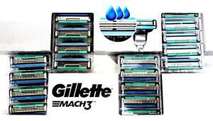 Gillette Mach3 Rasierklingen mit verbesserten Feuchtigkeitsstreifen 18 Klingen