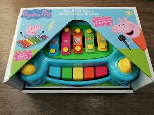 PEPPA PIG PIANO KEYBOARD 2 IN 1 TOY PLAYSET MUSICAL INSTRUMENT UNISEX 2+ YEARS