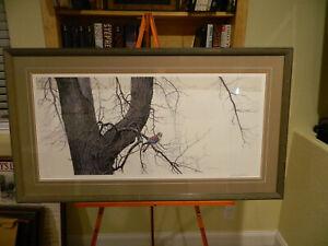 Winter Elm American Kestrel Signed By ROBERT BATEMAN 403/950