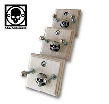 3-Pk Skateboard Vintage Longboard Wall Mount Hanger Rack World Industries Girl