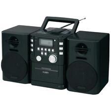Jensen CD725 Portable CD Music System Cassette Player Recorder FM Stereo Radio