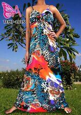 Floral Regular Size Sleeveless Elastane Dresses for Women