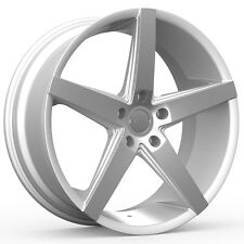 4-NEW ROSSO 705 AFFINITY 20x8.5 5x100 +38mm Silver Wheels Rims
