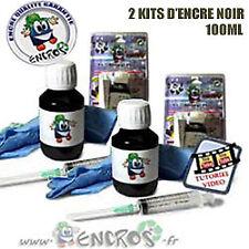 Pack X2 kits Encre Noir HP15/45 Recharge Jet d'encre