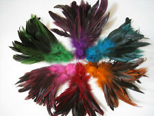 """6 Packs Rooster Half Bronze Coque Tail Saddle Hackle Feathers 4 Fly Tying -6-8"""""""