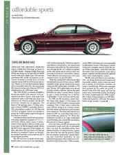1995-1999 BMW M3  ~  NICE ARTICLE / AD
