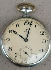 Vintage 1929 OMEGA military Swiss POCKET WATCH – Working