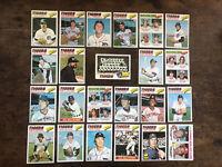 1977 Topps Detroit Tigers Near Team Set w/ Multi team RCs Exmt Baseball Cards