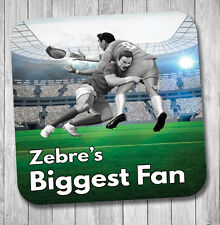 Zebre Fan Rugby Coaster - Birthday / Christmas Gift / Stocking Filler