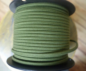 25' Cloth Covered 2-Wire Electrical Cord - Vintage Style Fabric Lamps, Fans, USA