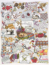 Cross Stitch Kit ~ Design Works Stitching ABC Sewing Alphabet Sampler #DW2731