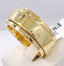 PIAGET 18K YELLOW GOLD DIAMOND RING POSSESSION BANDEAU SPIN RING SIZE 64 (11)
