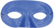Morris Costumes Satin Half Domino Mask With Thin Elastic Band Blue. TI60BU