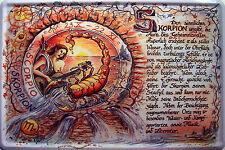 Star sign Scorpio Metal Sign Plaque Tin Metal Metal Tin Sign 20 x 30 cm