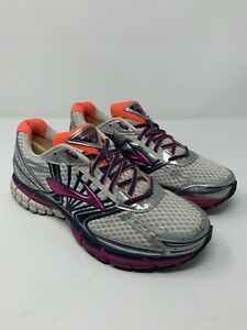 Brooks Adrenaline GTS 14 Men's 10 D Orange Red DNA Lace Up Running Shoes