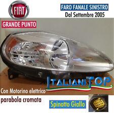 FIAT GRANDE PUNTO FARO FANALE ANTERIORE SINISTRO SX P/CROMATA F3201