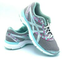 Asics Gel-Excite 4 Womens Size 8 Running Shoes Gray / Blue / Purple T6E8N EUC