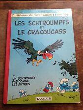 les schtroumpfs et le cracoucass EO (1969) par peyo bd ancienne dos rond