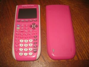 Texas Instruments TI-84 Plus Silver Edition Graphing Calculator Tested Pink