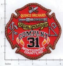 Maryland - Montgomery County Special Operations Company 31 MD Fire Dept Patch