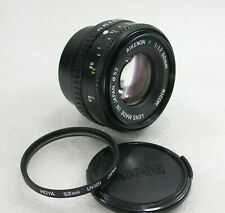 Ricoh Rikenon P 50mm F1.7 Manual Focus Standard Lens, Pentax PK Fit, No. A47877