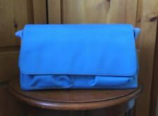 Lands End Blue Canvas Bag Purse Small Tote