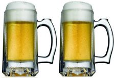 Set of 2 4 6 Pasabahce Pub Beer Mugs 30ml Lager Glass Stein Glasses Ale Drink