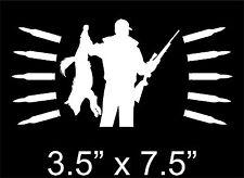 Coyote Hunting Sticker predator varmint hunter bullets Vinyl Decal .243 .223