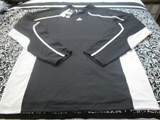 """Nwt """"Adidas"""" Climalite Basketball Blk/Wt Jersey Black And White Mens Xlt ~T2339"""