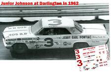 CD_463 #3 Junior Johnson  1962 Pontiac   1:64 scale decals   ~OVERSTOCK~