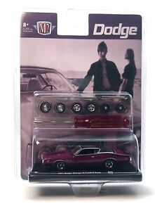 M2 Machines 1971 Dodge Charger R/T 440 6 Pack Auto Wheels R08 1:64