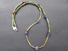 NILE  Ancient Egyptian Faience Mummy Bead Necklace ca 600 BC