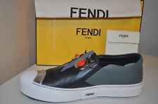 NIB FENDI Monster Faces Studded Slip On Round Toe Skate Sneakers Shoes 40 - 10