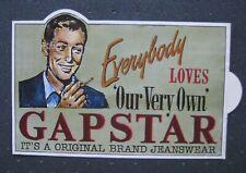 autocollant ancien : GAPSTAR