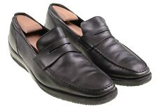 Tod's Made in Italy Solid Black Leather Slip On Casual Driving Loafers Shoes 10